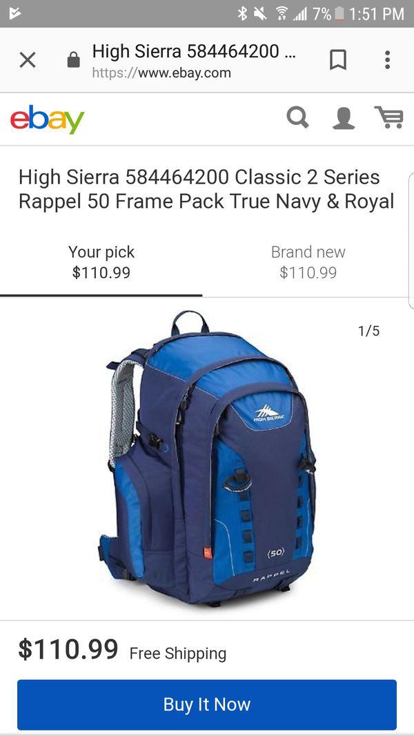 High Sierra Rappel 50 Hiking Backpack ‑ True Navy
