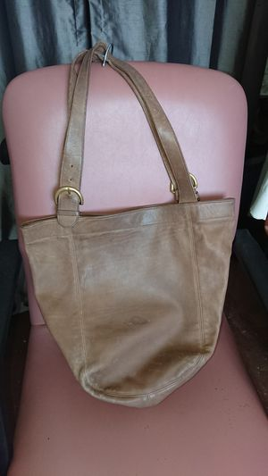 Large Coach bucket tote bag brown leather for Sale in Phoenix, AZ