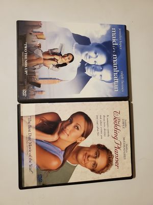 The Wedding Planner DVD and Maid in Manhattan DVD Used But Like new condition for Sale in Lewisville, TX