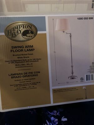 NEW Hampton Bay Swing Arm Floor Lamp # 1000 055 699 for Sale in Chicago Heights, IL