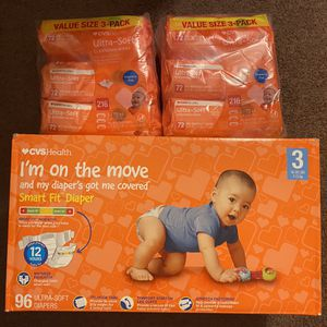 Diapers size 3 and wipes bundle $28 for Sale in Huntington Beach, CA
