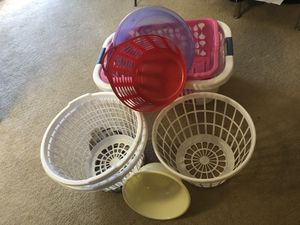 Utility baskets and tub for Sale in Gaithersburg, MD