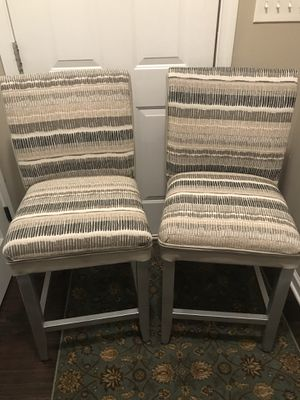 Set of (2) Original Bar Stool Chairs Vinyl and Fabric for Sale in Knightdale, NC