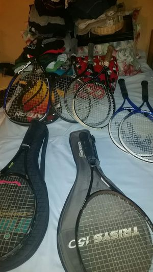 A lot of tennis rackets for Sale in St. Louis, MO