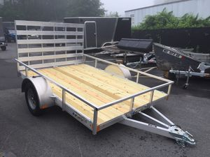 2021 Nitro 6.5x10' open utility trailer all aluminum with gate will trade for Sale in Westford, MA