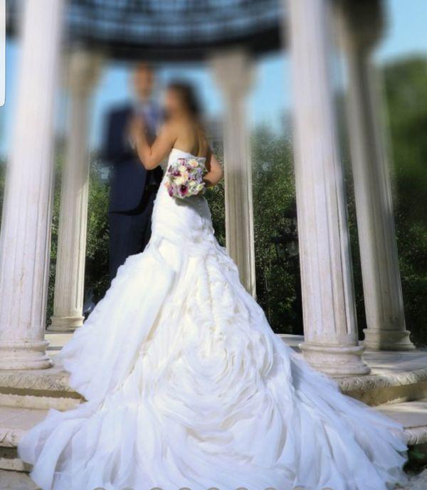 f217b33b88dd White by vera wang trumpet wedding dress vw 351395 for Sale in ...