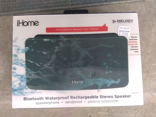 I home Bluetooth waterproof rechargeable stereo speaker
