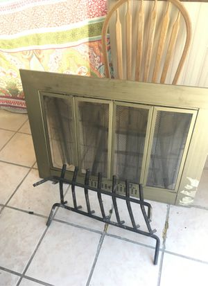 Fireplace Sliding Door Panel and Base for Sale in Las Vegas, NV