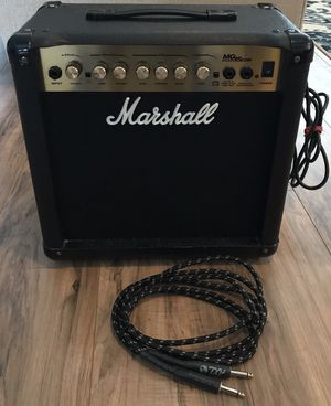 Marshall MG Series MG15CDR 15W Electric Guitar Amplifier Combo Amp Reverb Effect for Sale in Livermore, CA