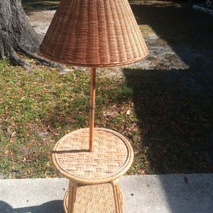 Vintage Natural Rattan Table Lamp for Sale in Largo, FL