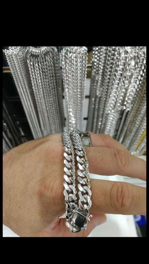 Silver 925 chain certified made in Italia for Sale in Los Angeles, CA