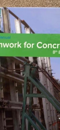 SP-4 (14) Formwork For Concrete Textbook for Sale in Spring Valley,  CA