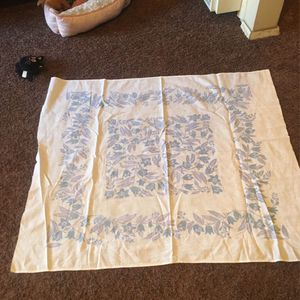 Small Two Color Blue Tablecloth Cotton vintage for Sale in Ontario, CA
