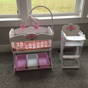 Kid kraft doll cradle and high chair for Sale in Battle Ground, WA