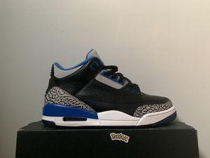 Jordan 3 sport blue for Sale in Kent, WA