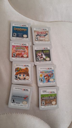 8 Nintendo 3ds games! All authentic and tested! for Sale in Chicago, IL
