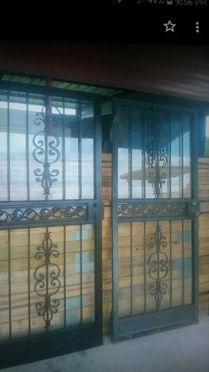 2 Black Steel Guardian Doors with Glass for Sale in Rose Hill, MS