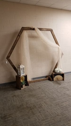 Rustic wedding hexagon arch for Sale in Garner, NC