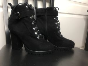 Lace up boots with buckle. Size 10 for Sale in Tracy, CA
