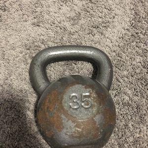 35lb Cast Iron Kettlebell for Sale in Buffalo, NY