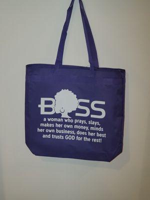 Purple Boss tote Bag for Sale in Greensboro, NC