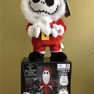 2pcs - Disney Nightmare before Christmas inflatable. Includes dancing Jack Skellington figure for Sale in Ontario, CA