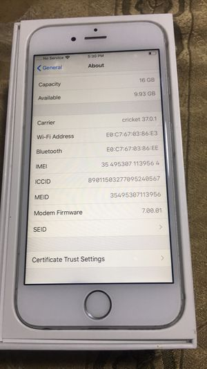 Iphone 6S. 16GB for Sale in Baldwin Park, CA