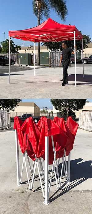 New in box $90 Red 10x10 Ft Outdoor Ez Pop Up Wedding Party Tent Patio Canopy Sunshade Shelter w/Bag for Sale in Whittier, CA