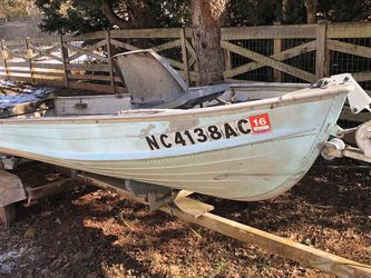 14ft MiroCraft Aluminum Jon Boat w/Trailer for Sale in Sterling,  VA