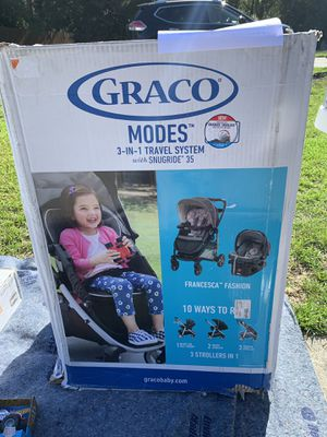 Graco 3 in 1 travel system for Sale in Jacksonville, NC