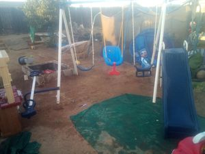 Bigger swing set with teeter totter and slide for Sale in Moreno Valley, CA