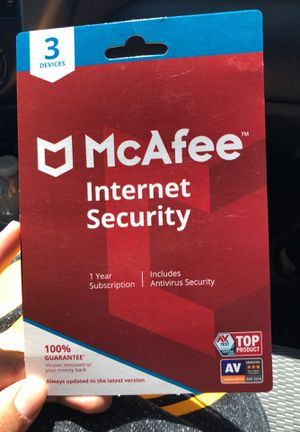 McAfee Internet Security 3 Devices for Sale in Tracy, CA