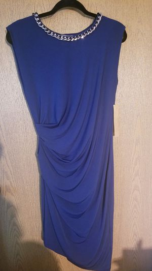 NWT Elegant Dress In Regal Royal Sz. L (12/14) for Sale in Wichita, KS