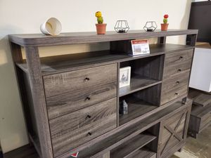 TV Stand up to 70in TVs, Distressed Grey for Sale in Santa Ana, CA