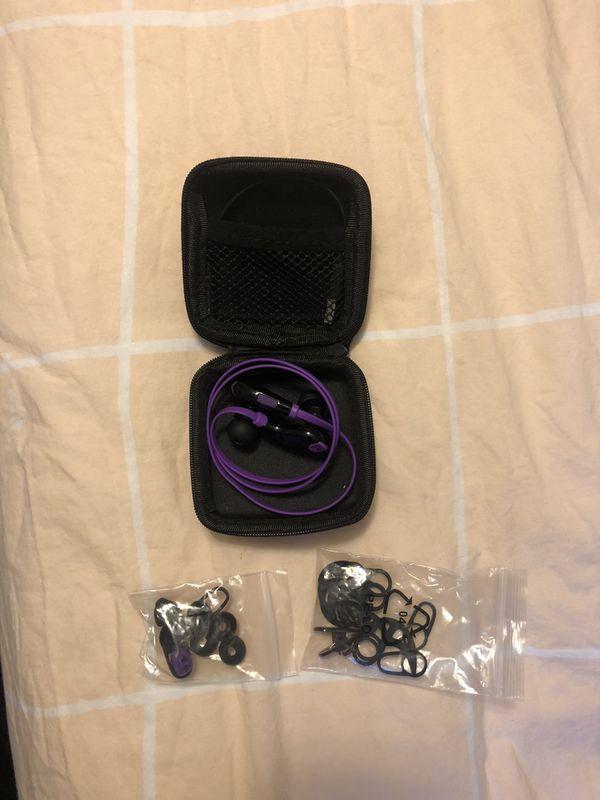 SoundPEATS Wireless Bluetooth Headphones In Ear Sport Earbuds Purple (shipping only)