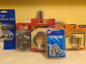 Hooks, screws, steel wire, clamps, hinges for Sale in Queens, NY