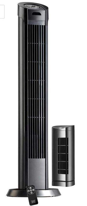 "Sunter Tower Fan Combo 2 Pack 40"" Tower Fan 13"" Personal Fan Remote Control for Sale in Annandale, VA"