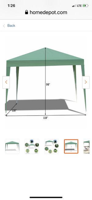 9.8 ft x 9.8 ft green pop up canopy tent wedding shelter for Sale in Fontana, CA