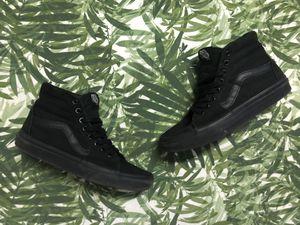 All Black VANS Sk8-Hi Canvas Sneakers - Women's 8.5/ Men's 7 for Sale in Warwick, RI