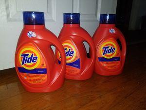 3 tide laundry detergent 100oz for Sale in Lanham, MD