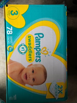 Pampers diapers size 3 for Sale in Chino Hills, CA