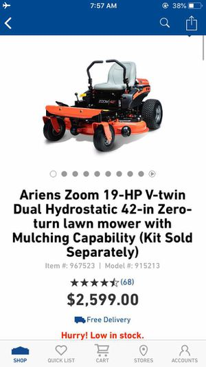 New Ariens Ikon X 24-HP V-Twin Dual Hydrostatic 52-Inch Zero Turn Lawn Mower for Sale in Dallas, TX