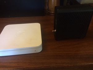Apple extreme fifth generation router and a 3.0 modem. 300+mbs for Sale in Surprise, AZ