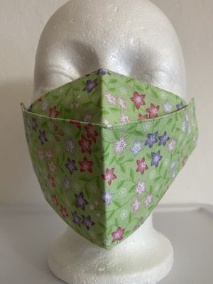 3D Face Mask Adults (Floral Green)-F40 for Sale in San Diego, CA