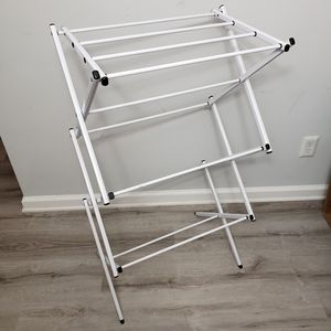 Compact Foldable Drying Rack in White for Sale in Arlington, VA