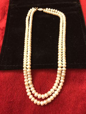 Double Strand Pearl Necklace for Sale in Tacoma, WA