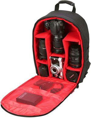 New camera waterproof backpack tripod lens Canon Nikon Sony fujifilm Panasonic Olympus travel monopod carrying case bag for Sale in Sacramento, CA
