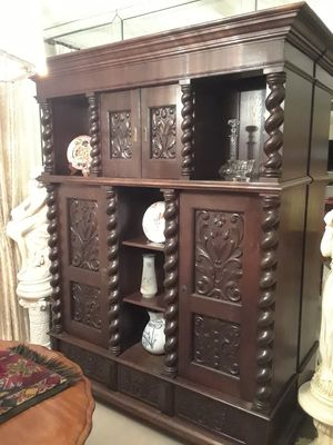 Solid hardwood antique armoire $2000 OBO for Sale in Miami, FL