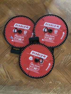 "Diablo 7 1/4"" 60 teeth saw blades for Sale in Turlock, CA"