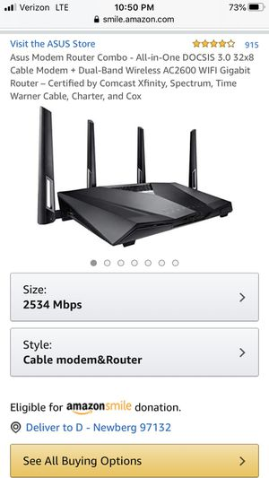 Asus CM-32_AC2600 wireless dual band cable modem router for Sale in Newberg, OR